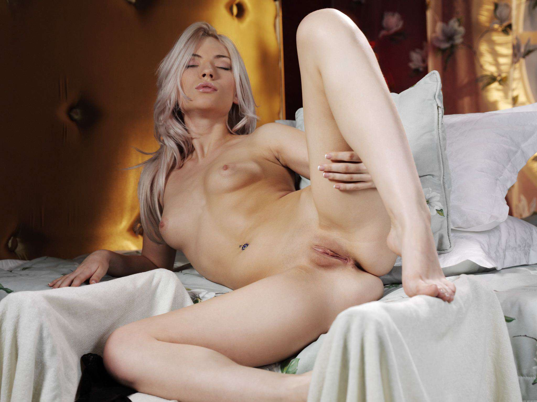 Naked Busty Adele Playing With Her Pussy