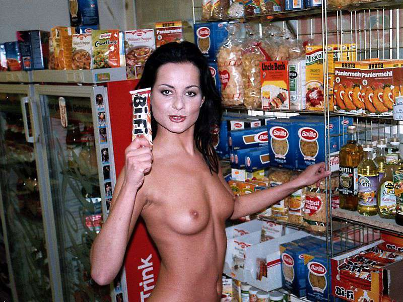 In a small kiosk supermarket