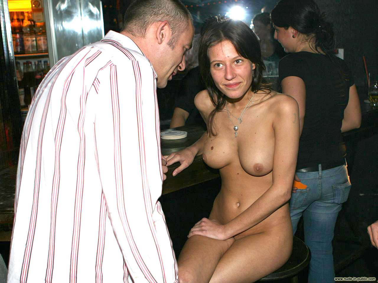In a bar and later