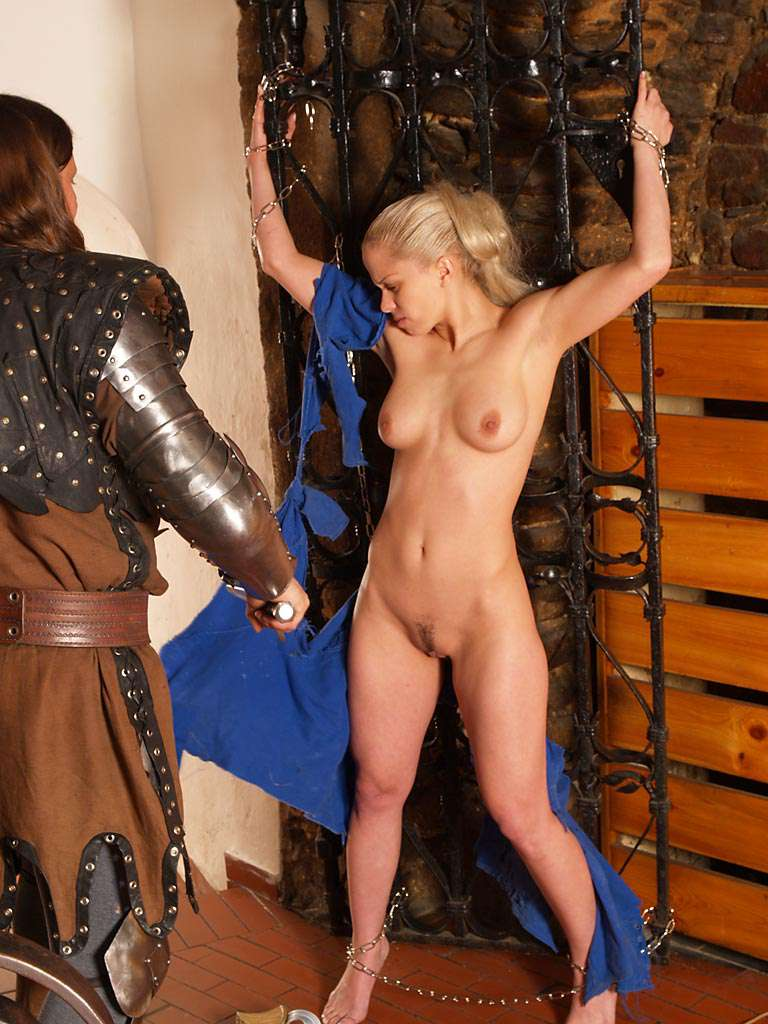 Fight of the knights in a cellar restaurant