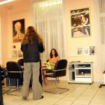 At the hairdresser beauty parlor