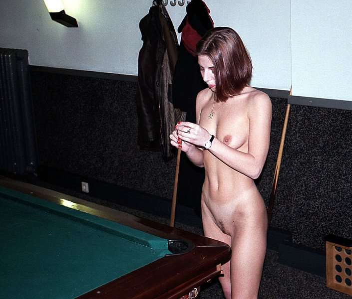 In a pool billard hall